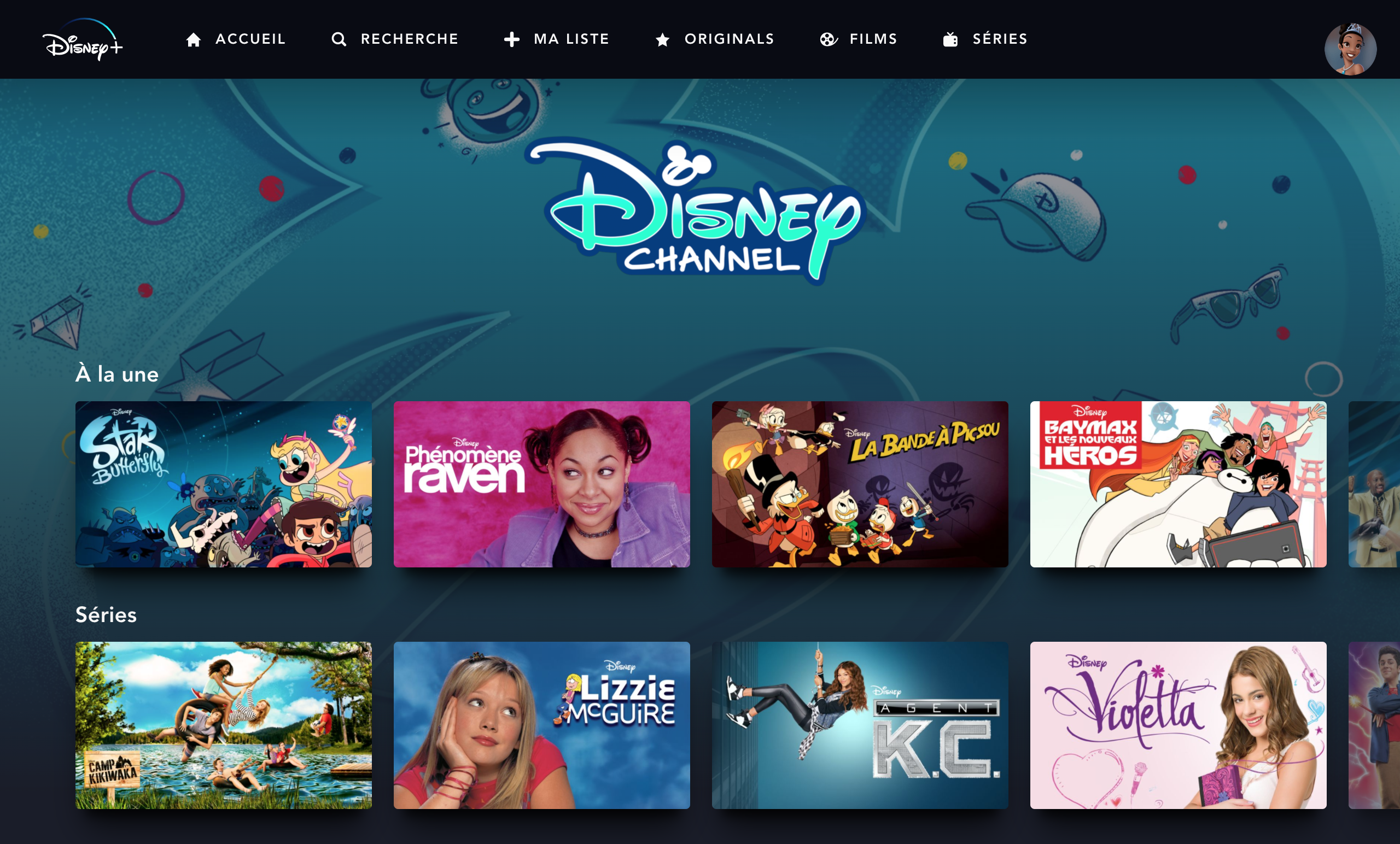 séries Disney Channel Disney+ France