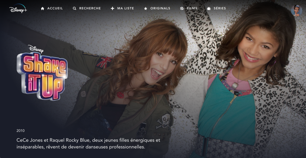 shake it up zendaya disney+ en france